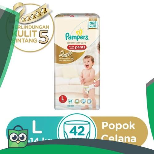 Foto Produk Pampers Popok Celana Premium Care L-42 [P&G] dari Anggis Shop.ID