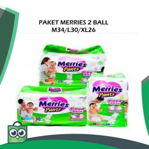 Foto Produk Merries M 34 / L 30 / XL 26 Paket 2 bal dari Anggis Shop.ID