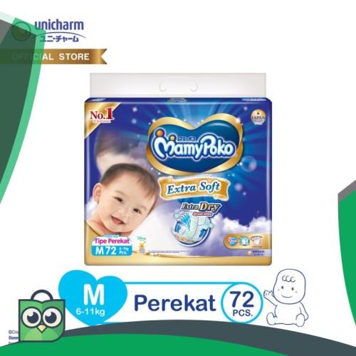 Foto Produk MamyPoko Popok Perekat Extra Soft - M 72 dari Anggis Shop.ID