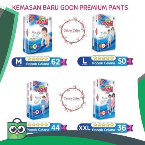 Foto Produk M62 / L50 / XL44 / XXL36 - KEMASAN BARU GOON PREMIUM PANTS   BONUS dari Anggis Shop.ID