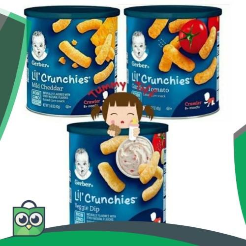 Foto Produk GERBER LIL CRUNCHIES CHEDDAR 42gr / Gerber Lil'crunchies / Gerber dari Anggis Shop.ID