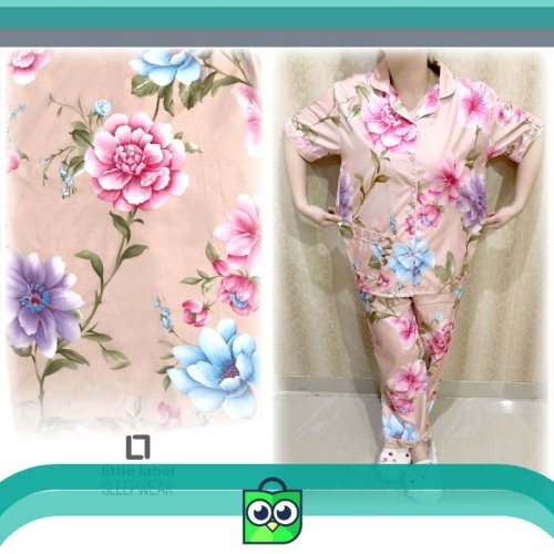 Foto Produk Stelan Baju Tidur Jumbo Flowy Dusty Pink Panjang dari Dana Shop.ID