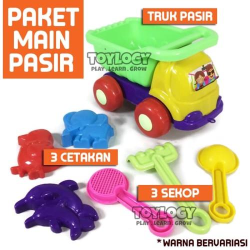 Foto Produk Mainan Anak Mobil Truk Pasir Ajaib Pantai Set Jaring Cetakan Sekop dari Toylogy