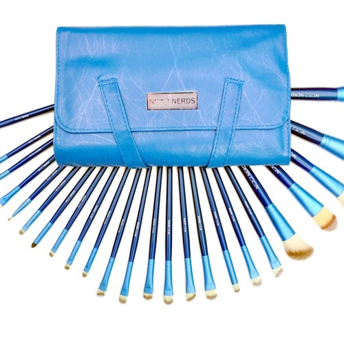 Foto Produk NOO NERDS - Blue SQUAD Brush Set 24pcs Luxury BRUSH - Luxury Case ORI dari twindshop