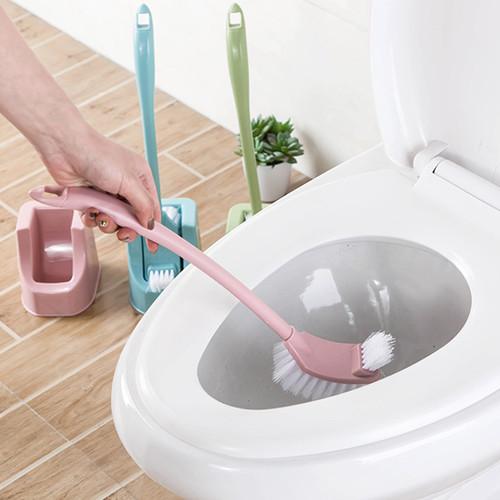 Foto Produk Toilet Brush Sikat Jamban WC Pembersih Koloset Kamar Mandi Bathroom - Merah Muda dari Laris365