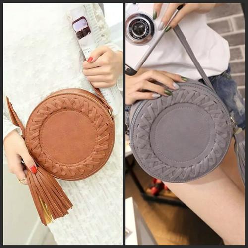 Foto Produk [TBK] TAS BULAT KEPANG SLING BAG ROUND FASHION IMPORT LOKAL KEKINIAN dari Marie Shop