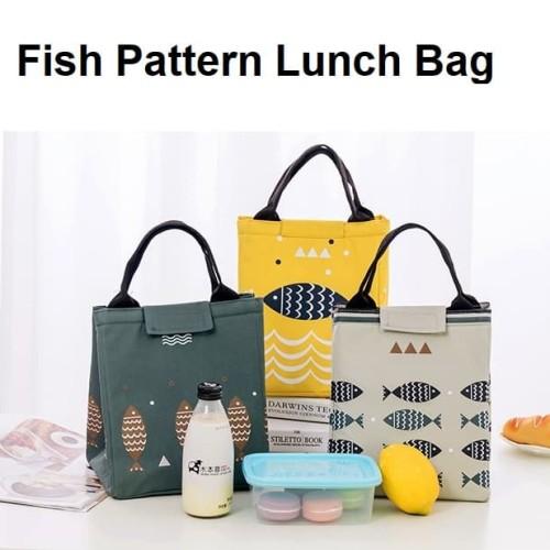Foto Produk LB01 Lunch bag motif Fish / Tas Bekal Cooler Bag - Yellow dari EnnWen Online Store