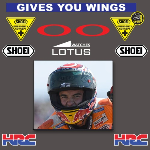 Foto Produk Stiker Helm Sticker Helmet Shoei Mark Marquez Lotus dari farrel sticker