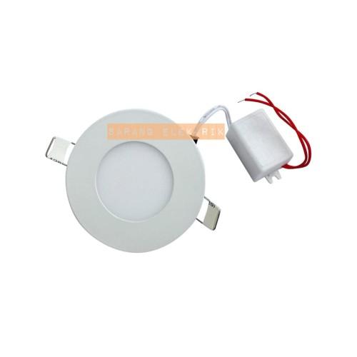 Foto Produk LED panel slim downlight 3w bulat - Kotak White dari GrosirAksesorisFashion