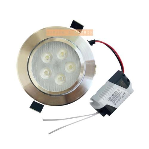 Foto Produk downlight LED 5w / 5 w / 5mata / 5watt - White dari GrosirAksesorisFashion