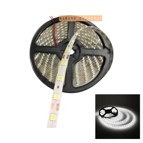 Foto Produk Ls-144 Lampu LED strip 5050 12v IP44 Outdoor| Ledstrip 5m Hijau Green - White dari GrosirAksesorisFashion