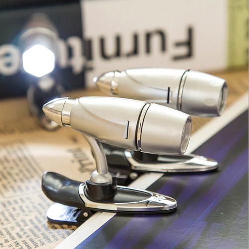 Foto Produk Lampu LED Mini Bullet Jepit di Buku Lamp Reading Unik Cantik Kreatif dari Laris365