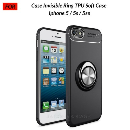 Foto Produk Case Autofocus Invisible Iring Iphone 5 / 5s / 5se Soft Case - Hitam dari Jagonya Case