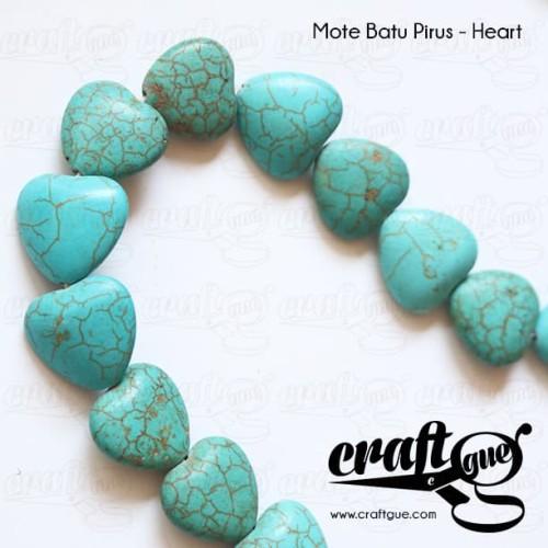 Foto Produk Mote Batu Pirus - Heart dari Craftgue