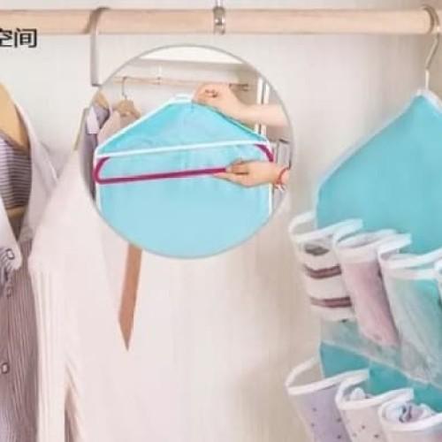 Foto Produk Rak Gantung Pakaian Dalam Celana Bra Organizer Hanger Underwear Dll dari Libra_Mart