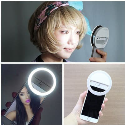Foto Produk Ring selfie bulat besar / slefie spotlight flash lamp phone beauty dari ShirokumaOnline