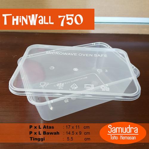 Foto Produk Thinwall 750 ml / Kotak Makan Plastik / Plastic Container dari Toko Samudra Plastik