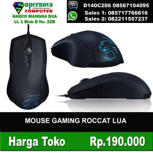 Foto Produk Mouse Gaming Roccat LUA dari Amalia Khariakarina