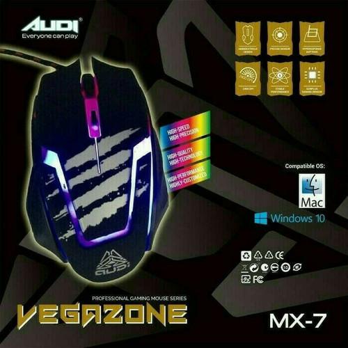 Foto Produk Mouse Gaming Audi Vegazone MX-7 - MX7 dari Amalia Khariakarina