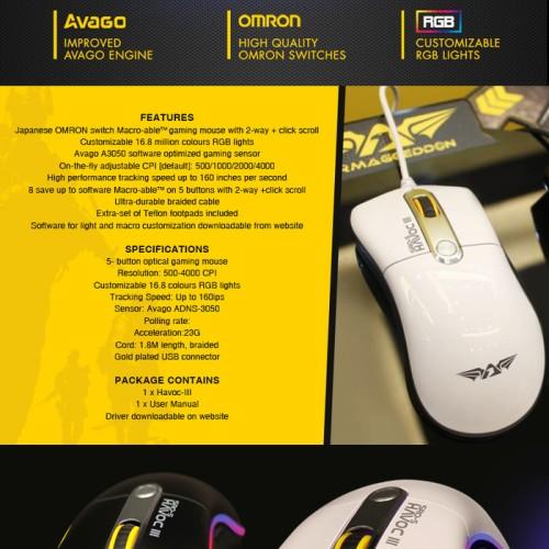 Foto Produk Armaggeddon Mouse SRO-5 HAVOC III - Hitam dari Annisa Fauziah