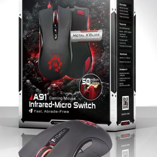 Foto Produk Mouse gaming bloody A91 full macro FREE MOUSE PAD dari Annisa Fauziah