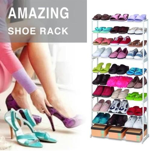 Foto Produk Amazing Portable Shoe Rack / Rak Sepatu 10 susun dari grosirstation