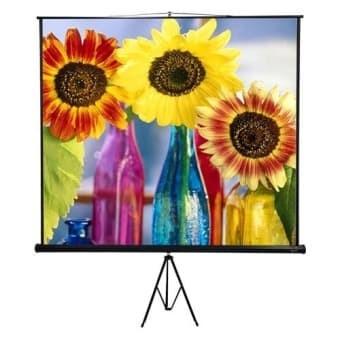 """Foto Produk layar projector / Tripod Manual Screen 70"""" x 70"""" dari Jaya Mandiri comp"""