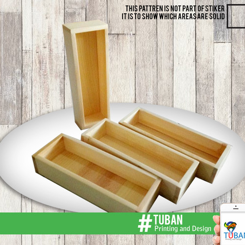 Foto Produk NAMPAN / TRAY / BAKI KAYU PINUS SERBAGUNA 26 cm x 8 cm x 6 vm dari Tuban Printing & Design