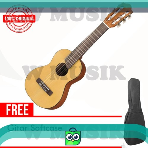 Foto Produk Yamaha Gitar Mini GL-1 / GL 1 / GL1 / Guitalele - Natural   Softcase dari Virgi Store.ID