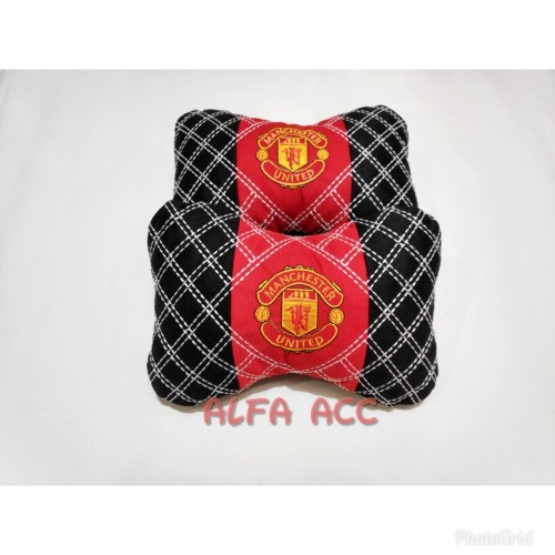 Foto Produk Bantal mobil kepala car set headrest motif bordir benang Manchester dari AFAACCS