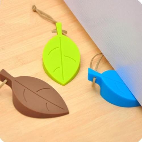 Foto Produk Penahan Pintu Door Stopper bentuk daun BB-06 - Orange dari Tchome Official Store