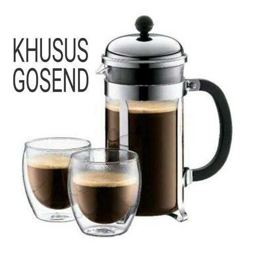 Foto Produk Fiorenza French Press Coffee Maker 350 ml for 3 Cups dari Kopi Jayakarta