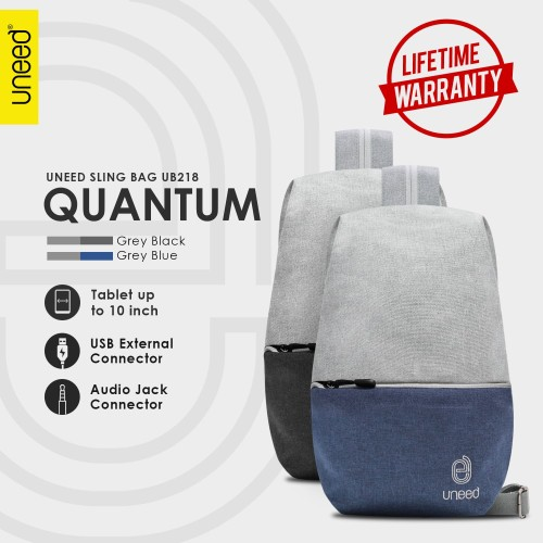 Foto Produk UNEED Quantum Tas Selempang Pria / Tas Sling Bag - UB218 - Hitam dari Uneed Indonesia