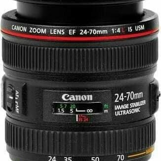 Foto Produk Lensa Canon EF 24-70mm f/4 - Hitam dari X ONE CAM