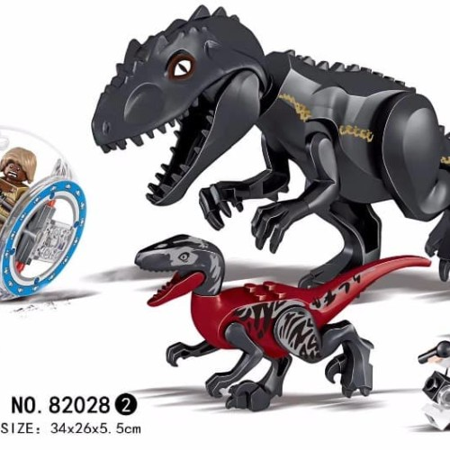 Foto Produk 82028-2 Lego Dinosaurus Jurassic World Indoraptor & Velociraptor dari Wil Toys