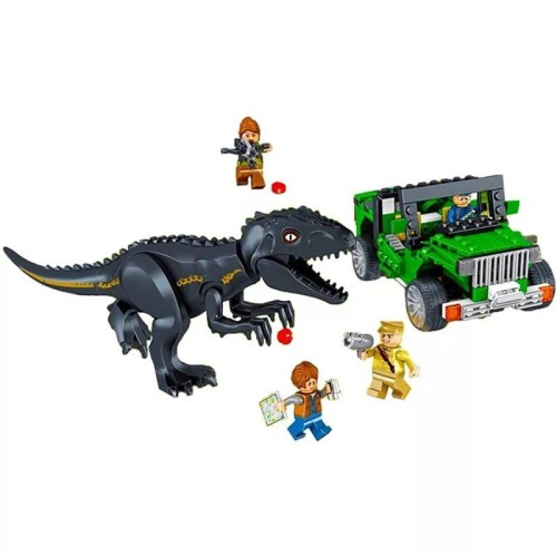 Foto Produk 82029 Lego Dinosaurus Jurassic World Jeep Wrangler Indoraptor Attack dari Wil Toys