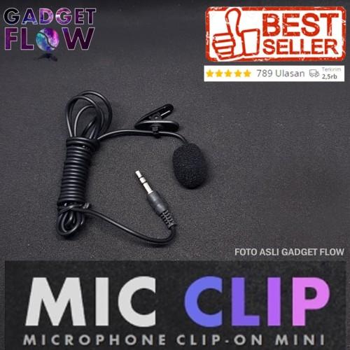 Foto Produk Microphone / Mic Clip on Mic 3.5mm For Smartphone / PC dari Gadget Flow