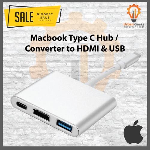 Foto Produk Kable Converter USB Type C Ke HDMI Multi Port Murah Macbook Pro 12 13 dari Urban Geeks