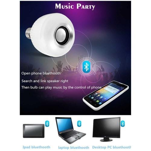 Foto Produk Lampu Bohlam LED RGB Remote Control Warna Kamar with Bluetooth Speaker dari aksesoris-iPhone