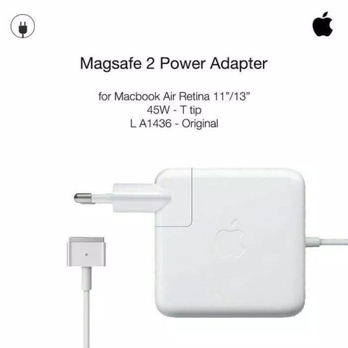 Foto Produk Magsafe 2 45w | Power Adapter | Charger Macbook Pro & Air dari Nootbook part