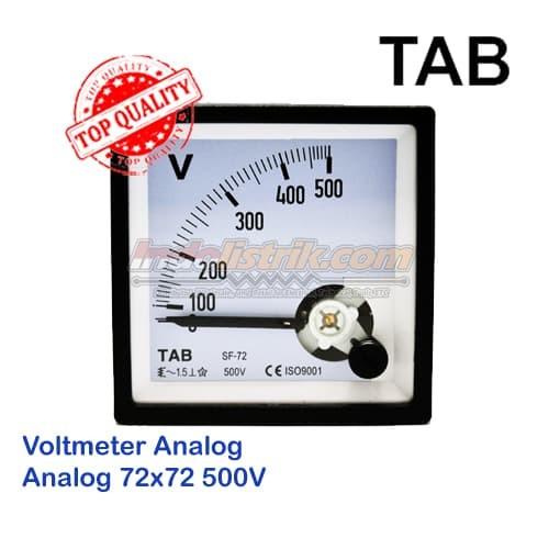 Foto Produk Voltmeter AC Analog 72x72 TAB Volt Meter- Bahan Pilhan Berkualitas dari INDOLISTRIK