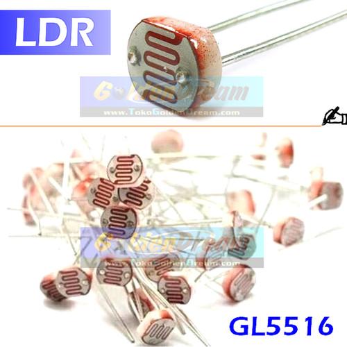 Foto Produk LDR GL5516 Light Dependent Resistor Peka Cahaya Sensor Resistansi Ohm dari VISITEK