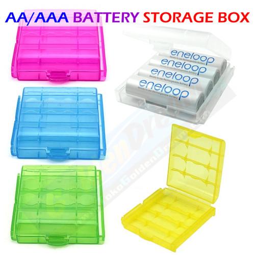 Foto Produk Kotak Penyimpan Baterai AA AAA Battery Storage Box Batere Case 14500 dari VISITEK