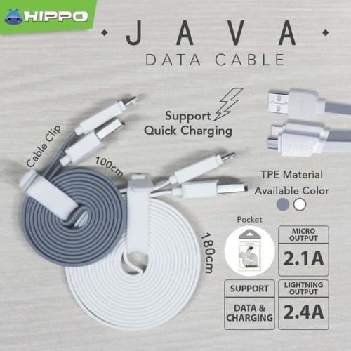 Foto Produk Hippo Java Type C Kabel Data & Charger 180cm - Abu-abu dari iLo Official Store