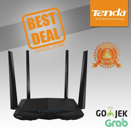 Foto Produk Tenda AC6 - Router WiFi Dual-band Canggih AC1200 dari Tenda Official Store