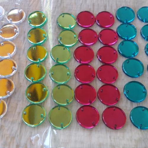 Foto Produk Mata Jahit Motif Bulat Flat 1,3 cm Aneka Warna ( isi 12 pc ) ( DAS ) dari Dunia Jasmine