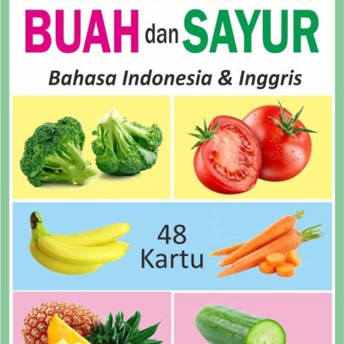 Foto Produk Flashcard | Kartu Pintar Balita Flash Card Buah dan Sayur dari Kinantikomik