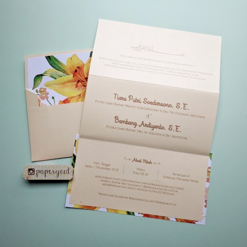 Foto Produk Undangan Amplop Polos Panjang & Isi Soft Cover Simple Murah dari Paperycut