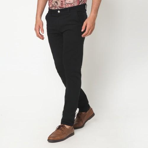 Foto Produk VENGOZ Celana Chino Pria Slim Fit - Black - Hitam,34 dari VENGOZ