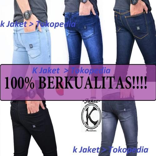 Foto Produk celana jeans celana levis celana jeans slim fit celana jeans hitam - Hitam, XXL dari K Jaket